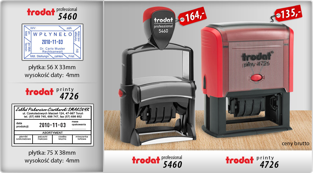 Datownik Professional 5460 i Printy 4726