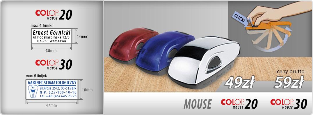 Pieczątka kieszonkowa Colop Mouse 20 - 49zł, Colop Mouse 30 - 59zł