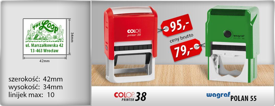 Wagraf Polan 55 - 79zł, Colop Printer 38 - 95zł